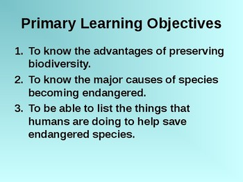 Biodiversity Notes PowerPoint