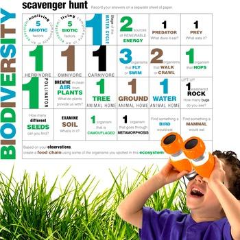 Biodiversity Scavenger Hunt