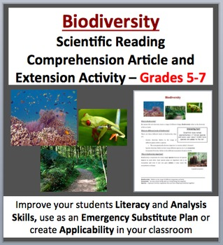 Biodiversity - Science Reading Article - Grades 5-7