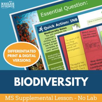 Biodiversity - Supplemental Lesson - No Lab