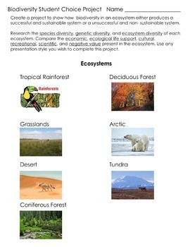 Biodiversity - Supplemental Lesson - No Lab