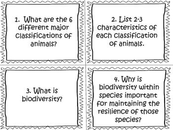 Biodiversity Task Cards