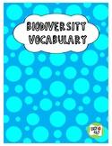 Biodiversity Vocabulary Building Activity