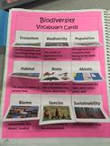Biodiversity Vocabulary Cards