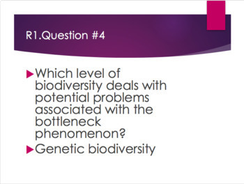 Biodiversity and Human Impact Review Game