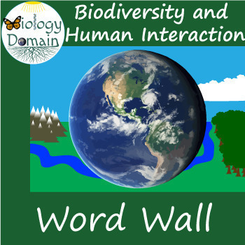 Biodiversity and Human Interaction Word Wall Vocabulary Cards