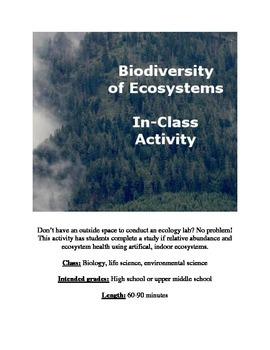 Biodiversity of Ecosystems activity