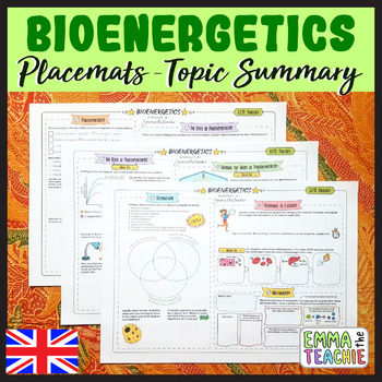 Bioenergetics Summary Sheets - Photosynthesis and Respiration
