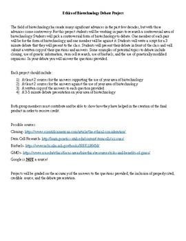 Bioethics Debate Project