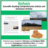 Biofuels - Food or Fuel? Comprehension Reading Article - Grade 8 and Up