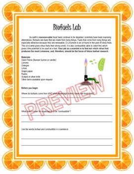 Biofuels Lab