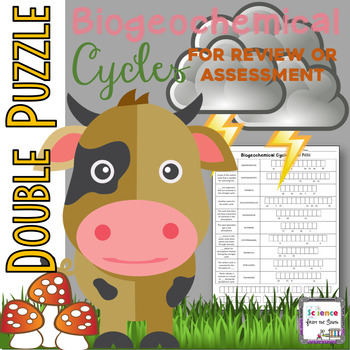 Biogeochemical Cycles Double Puzzle for Review or Assessment
