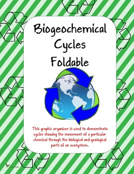 Biogeochemical Cycles Foldable by Science Safari | TpT