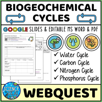 Biogeochemical Cycles Interactive Biology Earth Science We