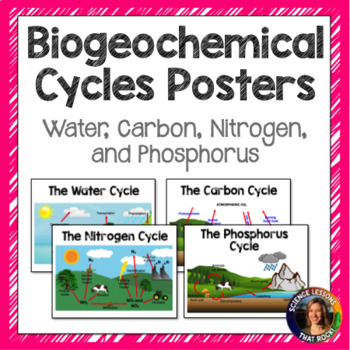Biogeochemical Cycles Poster Pack