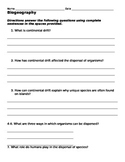 Biogeology Worksheet