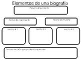 Biografia - Organizador Grafico