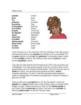 Celia Cruz Biografía - Spanish Biography + Worksheet