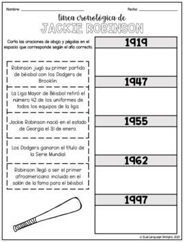 Biografía de Jackie Robinson / Jackie Robinson Biography in Spanish