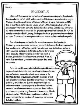 Biografía de Malcom X / Malcom X Biography in Spanish