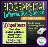 Biographical Informative Speech  (Guidelines, outlines, rubric, peer critique)