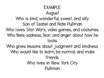 Biographical Poem Craftivity