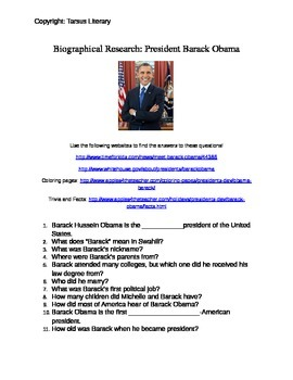 Biographical Research: Barack Obama