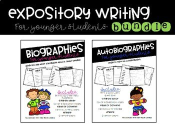 Biographies & Autobiographies for Younger Students BUNDLE