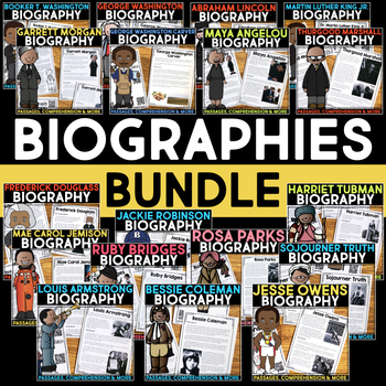 Biographies BUNDLE | Biography Informational Report | Biography Research