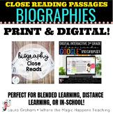 Biographies Close Reading Print & Digital Bundle