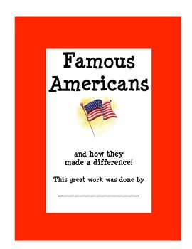Biographies - Famous Americans Summary Packet