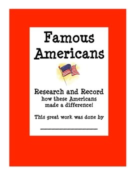 Biographies - Famous Americans Research and Record
