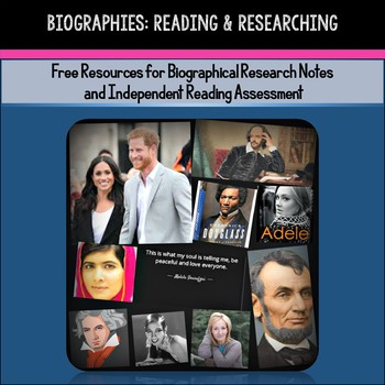 Biographies: Famous Person Research & Independent Reading Notes (Free Resources)