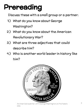 George Washington Informational Text and Activities for EFL-ESL-ELD