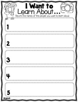 Biographies: Graphic Organizers for Any Person