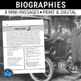 Biography Reading Comprehension Passages
