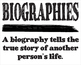 Biographies Posters Set of 3
