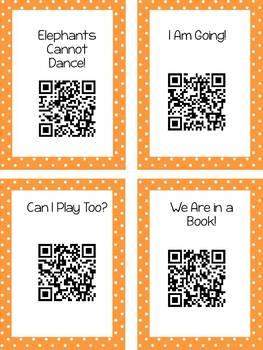 Mo Willems QR Code Read Aloud Listening Centers