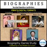 Social Justice Activists: Biography Genre Study- Distance