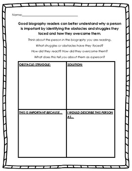 Biographies - Struggles & Obstacles