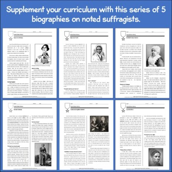 Biographies: The Suffragettes