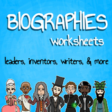 Biographies Worksheets Bundle