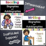 Biographies and Autobiographies: Reading & Writing Activities BUNDLE