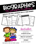 Biographies for Younger Students - Interview & Write About