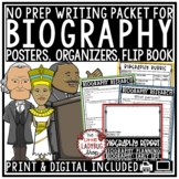 Biography Unit Activities & Biographies Research Graphic O