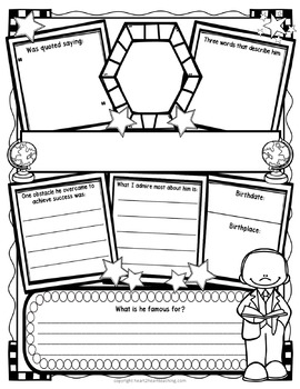 Biography Research Organizers: Perfect for Guided Research Projects