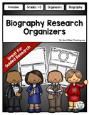 Biography Research Organizers - Perfect for Guided Researc