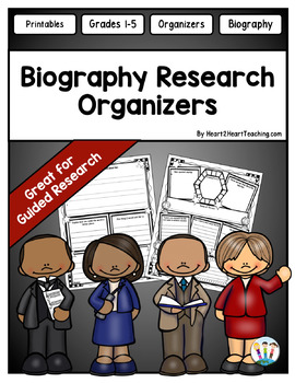 Biography Organizers - Perfect for Guided Research Projects