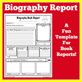 Biography Graphic Organizer | Biography Book Report Templa