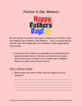 Biography - A Father's Day Memoir (HANDOUT)